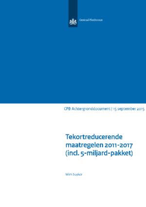 Tekortreducerende maatregelen 2011-2017 (inclusief 5-miljard-pakket)