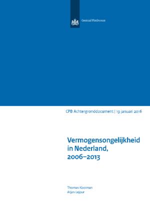 Vermogensongelijkheid in Nederland, 2006-2013