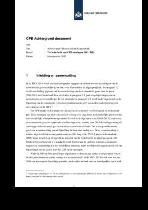 Trefzekerheid van CPB-ramingen in 2011-2013
