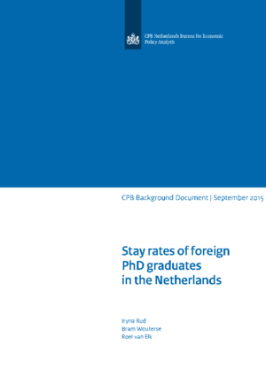 Stay rates of foreign PhD graduates in the Netherlands