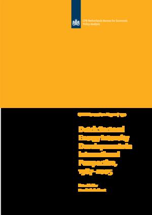 Dutch Sectoral Energy Intensity Developments in International Perspective, 1987–2005