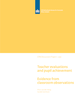 Teacher evaluations and pupil achievement: Evidence from classroom observations