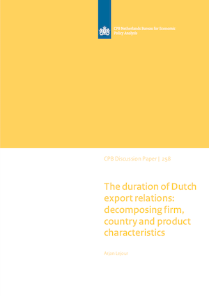 The duration of Dutch export relations: decomposing firm, country and product characteristics