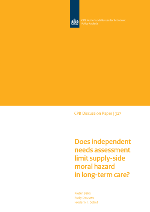 Does independent needs assessment limit supply-side moral hazard in long-term care?