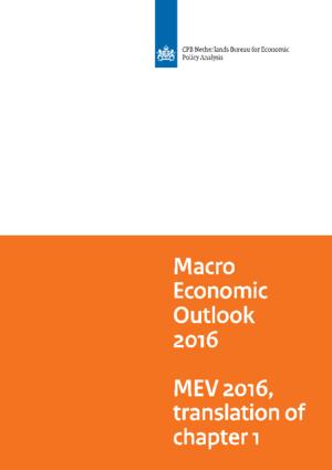 Macro Economic Outlook (MEV) 2016