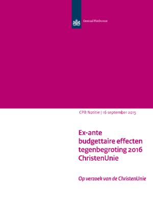 Tegenbegroting 2016 van de ChristenUnie