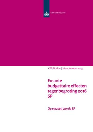 Tegenbegroting 2016 van de SP