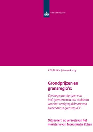 Grondprijzen en grensregio's: Zijn hoge grondprijzen van bedrijventerreinen een probleem voor het vestigingsklimaat van Nederlandse grensregio's?
