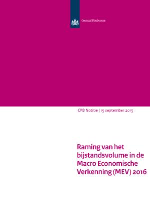 Raming van het bijstandsvolume in de MEV 2016
