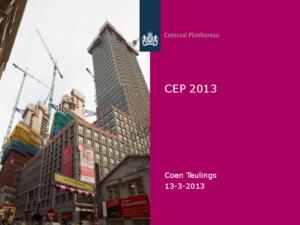 Presentatie Centraal Economisch Plan 2013