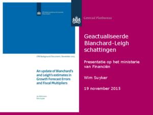 Presentatie: Geactualiseerde Blanchard-Leigh schattingen.