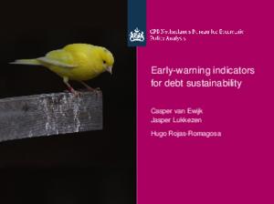 Presentation 'Early-warning indicators for debt sustainability'