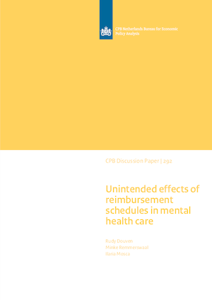 Unintended effects of reimbursement schedules in mental health care