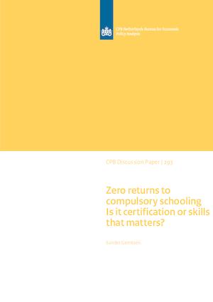 Zero returns to compulsory schooling: Is it certification or skills that matters?