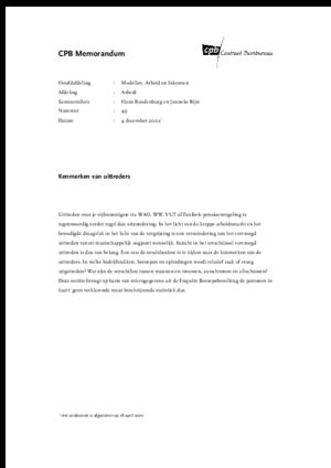 Kenmerken van uittreders - december 2002