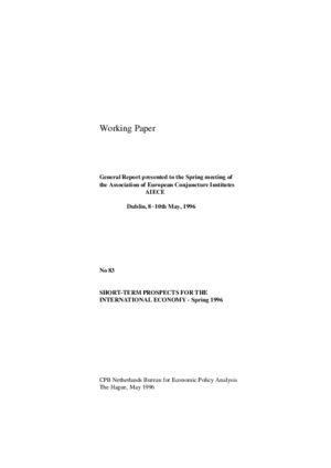 Short-term prospects for the international economy - spring 1996; General report presented to the Spring meeting of the AIECE; Dublin