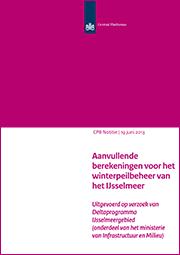 Image for Aanvullende berekeningen voor het winterpeilbeheer van het IJsselmeer