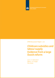 Image for Childcare subsidies and labour supply: evidence from a large Dutch reform