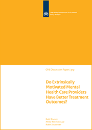 Image for Do Extrinsically Motivated Mental Health Care Providers Have Better Treatment Outcomes?