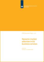 Image for Dynamische marktselectie in de Europese zakelijke dienstverlening