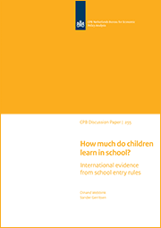 Image for How much do children learn in school? International evidence from school entry rules