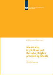 Image for Market size, institutions, and the value of rights provided by patents