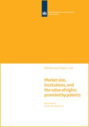 Image for Marktomvang, instituties en de waarde van rechten verschaft door patenten
