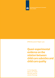 Image for Quasi-experimental evidence on the relation between child care subsidies and child care quality