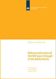 Image for Robust estimation of the VAT pass-through in the Netherlands