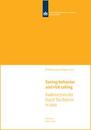 Image for Spaargedrag en het nemen van risico's: bewijs op basis van de Nederlandse belastingherziening in 2001