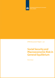 Image for Social Security and Macroeconomic Risk in General Equilibrium