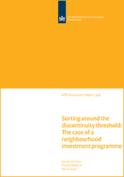 Image for Sorting around the discontinuity threshold: The case of a neighbourhood investment programme