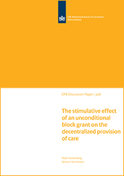 Image for The stimulative effect of an unconditional block grant on the decentralized provision of care