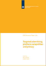 Image for Targeted advertising, platform competition and privacy