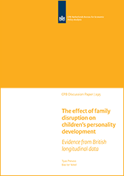 Image for The effect of family disruption on children's personality development: Evidence from British longitudinal data