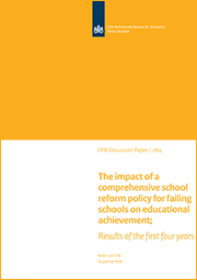 Image for The impact of a comprehensive school reform policy for failing schools on educational achievement; Results of the first four years