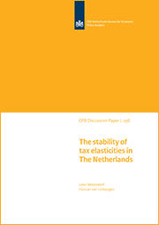 Image for The stability of tax elasticities in The Netherlands