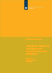 Image for Onbedoelde effecten bij de invoering van prestatiebekostiging in de curatieve geestelijke gezondheidszorg