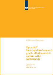 Image for Up or out? How individual research grants affect academic careers in the Netherlands