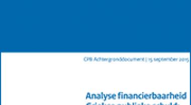Image for Analyse financierbaarheid Griekse publieke schuld; tentatieve uitkomsten
