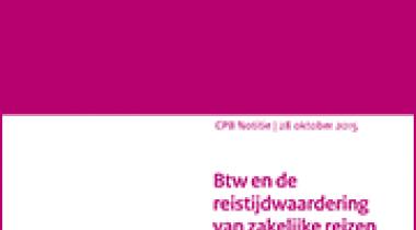 Image for Btw en de reistijdwaardering van zakelijke reizen en goederenvervoer in maatschappelijke kosten-batenanalyse