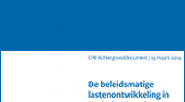Image for De beleidsmatige lastenontwikkeling in Nederland 1998-2013