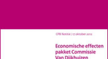 Image for Economische effecten pakket Commissie Van Dijkhuizen