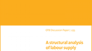 Image for A structural analysis of labour supply elasticities in the Netherlands