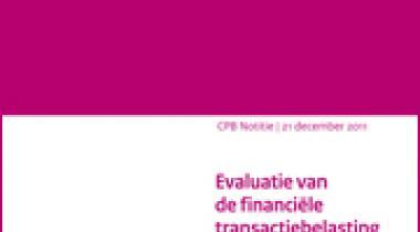 Image for Evaluatie van de financiële transactiebelasting