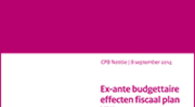 Image for Ex-ante budgettaire effecten fiscaal plan VNL
