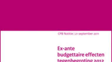 Image for Ex-ante budgettaire effecten tegenbegroting 2012 D66