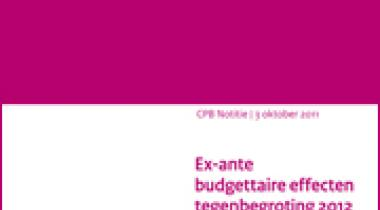 Image for Ex-ante budgettaire effecten tegenbegroting 2012 SP