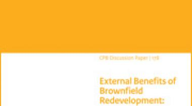Image for External Benefits of Brownfield Redevelopment: An Applied Urban General Equilibrium Analysis