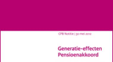 Image for Generatie-effecten Pensioenakkoord
